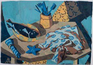 untitled 5רותם עמיצור, קולאז' עם נייר צבוע ביד, צילום ליבי קסל