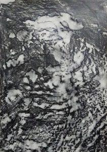 דיאנה קוגן, ללא כותרת, רישום פרוטאז' על נייר, 21x29 סמ, 2019